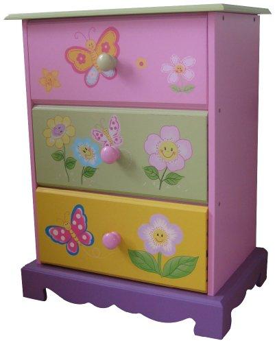 LibertyHouseToys Butterfly Garden mit 3Schubladen Aufbewahrung (Möbel Kommode Liberty)