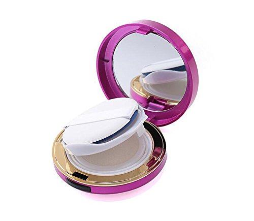 15 ml 14,2 gram vide absolument Portable pour Maquillage Poudre à nourriture support Coussin d'air Puff Coque avec éponge Houppette et miroir rechargeables Fond de teint BB Crème Box