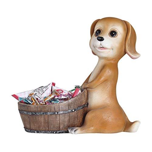 Obstteller Kreative Süßigkeiten Platte Nordeuropäischen Simulation Hund Ornament Moderne Wohnzimmer Veranda Schuhschrank Couchtisch Schlüssel Lagerung Dekoration (Color : Brown) -