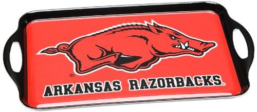 BSI NCAA Serviertablett aus Melamin, Unisex-Erwachsene, Unisex-Erwachsene, Arkansas Razorbacks, Einheitsgröße