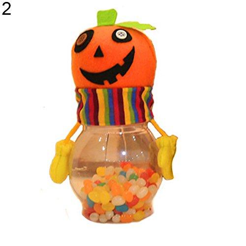 beiguoxia Let 's Party Halloween Candy Jar Geschenke Trick or Treat Spielzeug Puppe Süßigkeiten Aufbewahrungsbox Dekoration–1, Plastik, Einfarbig, 2