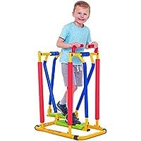 Nueva elíptica Air-Walker para niños - oscilante y llamativa que combina diversión y actividad para una vida sana. Movimiento de balanceo seguro, de poco impacto, silencioso y de deslizamiento suave. Los niños pueden divertirse con amigos o con mamá y papá; pueden aprender, charlar, ver la tele mientras están activos dentro o fuera de casa. El ejercicio ayuda a fortalecer las articulaciones, los huesos y promover la flexibilidad; una forma estupenda de introducir el ejercicio a niñas y niños.