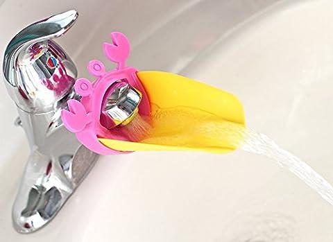 Kawaii Tierform-Hahn-Extender für Hilft Kinder Kleinkind Kinder Babys Händewaschen in Waschbecken & Küche, BPA-frei