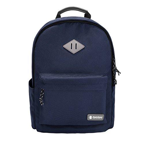 tomtoc Laptop Rucksack Schulrucksäcke Backpack für 15,6 Zoll Notebook, 22L Unisex Gepäck für Frauen Männer Schüler, Dunkel Blau