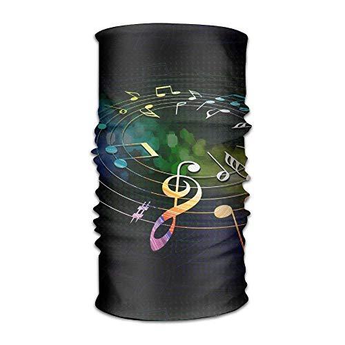 jingqi Colorful Music Notes Headband Bandana,Outdoor Multifunctional Headwear,Magic Scarf for Men Women 19.7x9.85inch(50x25cm)