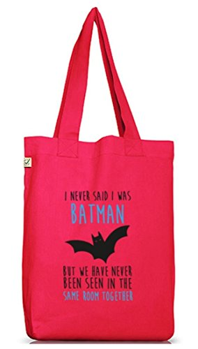 Shirtstreet24, I Never Said..., Jutebeutel Stoff Tasche Earth Positive (ONE SIZE) Hot Pink