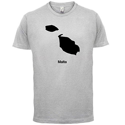 Malta / Republik Malta Silhouette - Herren T-Shirt - 13 Farben Hellgrau