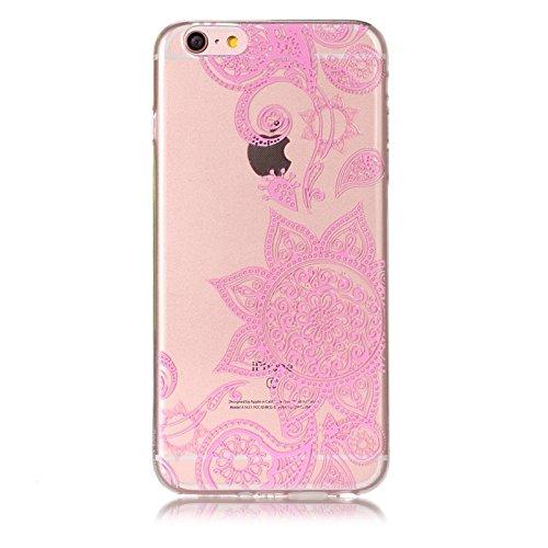 3X Cover iPhone 5 5S SE, E-Unicorn Cover Custodia Apple iPhone 5 5S SE Trasparente Unicorno Fenicottero Gufo 3D Silicone Morbido TPU Gomma Morbida Colorate Ultra Slim Bumper Case Modello Protezione Pr Ragazza Mandala Fiore Farfalla