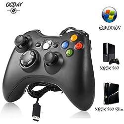 Manette Xbox 360 - Manette Xbox PC Joystick pour Xbox 360 et Windows 7/8/10 Connection USB - Design Ergonomique - Double Vibration - IdšŠal pour vos sessions de jeux sur Xbox et PC.