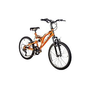 41BU6TTsm7L. SS300 F.lli Schiano Rider Power 18V Bicicletta Biammortizzata, Nero/Rosso