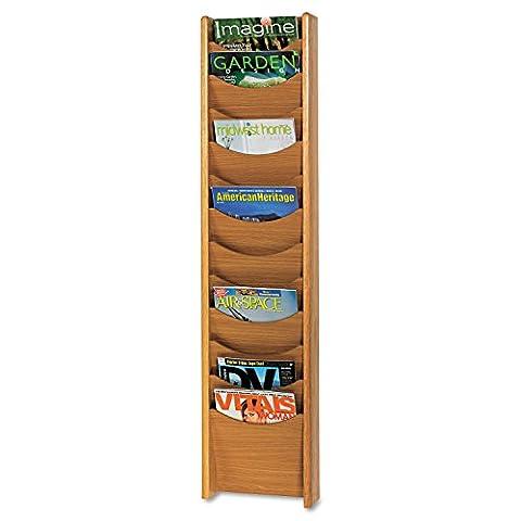 Safco 12 poches porte-revues en bois, 28,57 cm de large x 48.75 cm de hauteur, 4331CY (Cerise) Chêne moyen - Safco Legno Solido