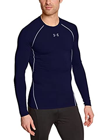 Under Armour Hg T-Shirt manches longues de compression Homme Midnight Navy/Steel FR : XXL (Taille Fabricant :