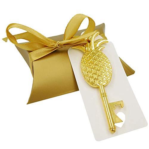 TOOGOO 36 Set Golden Ananas Elefant Flaschen ?ffner Hochzeit Gef?lligkeiten Und Geschenken Für Brautjungfer G?ste Trauzeugen Personalisierte Hochzeits Fan (Personalisierte Für Fans Hochzeit)