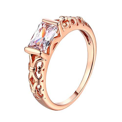 925 Silber Schmuck Frau Diamant Ring Ehering Party Geschenke YunYoud breite siegelring modische siegelringe damenschmuck perlenringe bandring goldschmuck stahlringe doppelring