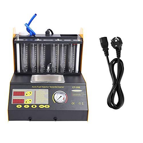 Injector Cleaner Tester, CT200 6 Zylinder Ultraschall Injector Cleaning Tester Maschine 100-240V(EU)