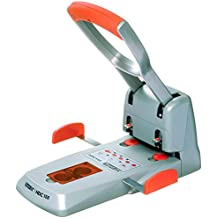 Rapid 23000600 Superlocher HDC150, Grauguss, 150 Blatt, silber/orange
