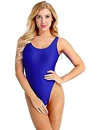YiZYiF Femme Maillot de Bain Body Justaucorps de Danse Gym Collant Bodysuit  de Sport Yoga Élastique d6e64f719e2