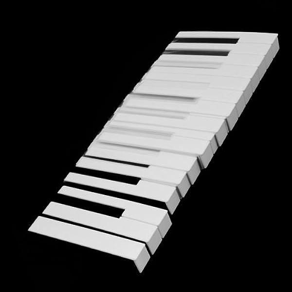 Keytops Reemplazo blanco brillante de teclas de piano de ...