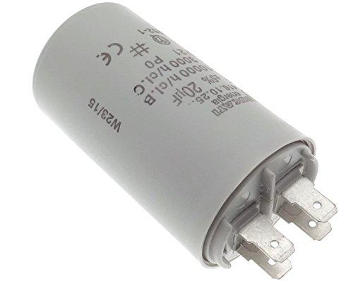 Kondensator 4-polig 20uF 20µF 450V Motorkondensator Anlauf Capacitor Wasserdicht (Betriebskondensator Motor Anlaufkondensator)