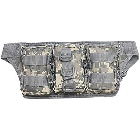 Tactical marsupio militare EDC Utility Pouch marsupio Molle Borsa a tracolla in nylon per campeggio trekking Assault Crossbody Messenger Zaino, ACU