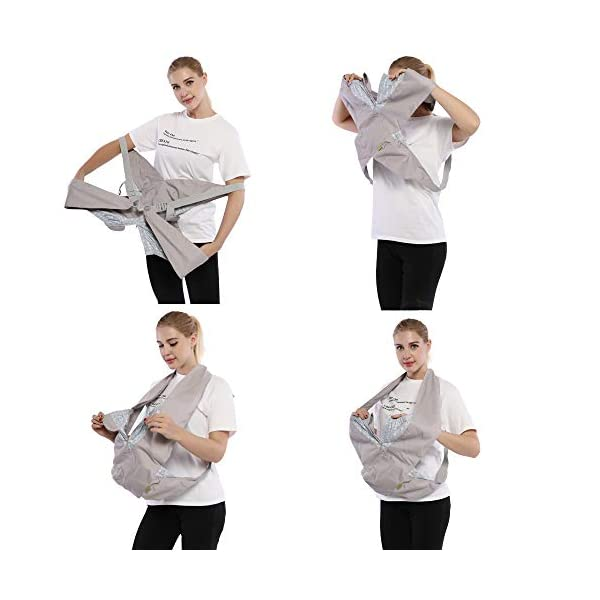 Cuby Best Organic Baby Carrier Cozy Cotton Baby Wrap X-Type Newborn Baby Sling Portabebe Ergonomica Kanguru Baby Carrier Rated (New Silver) VRbabies 💖ENJOY FREE HANDS AGAIN: Get your freedom back. Do housework, grab a coffee, shop & tend to other kids while keeping baby close. Baby stays happy while you're more productive & less stressed. Great for fussy babies! 💖STRENGTHEN BOND WITH BABY: Forging a close bond with your infant is vital to their development. Our baby carrier keeps baby close to your warm body & heartbeat where they feel safe & secure. For newborn - 35 lbs. 💖UNBEATABLE QUALITY: Manufactured with premium materials to ensure years of use and repeated washings. Sturdy fabric holds your baby safely & securely. This is a baby carrier you'll pass on to friends and family! 4