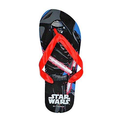 SWE7043 Ciabatte infradito in gomma per bambino Star Wars. MWS (33/34, Celeste)
