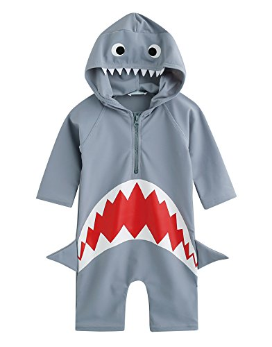 Vaenait Baby 56-80 Baby Badeanzug Infant Jungen Rashguard Swimwear Ohne Kappe Real Jaws Baby Baby S