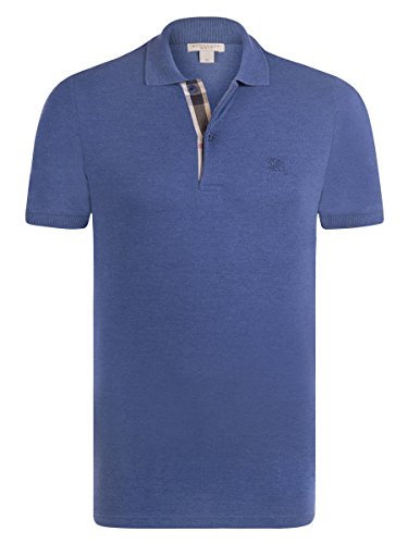 BURBERRY Polo Shirt Short Sleeve Uomo Manica Corta Colore Bright Steel Blue (S)