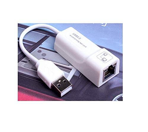 CLWHJ Ethernet Adapter USB 2.0 zu 10/100 Netzwerk RJ45 LAN Kabel Adapter für Nintendo Switch, Wii, Wii U, MacBook, Chromebook, Windows 10, 8.1, Mac OS, Surface Pro weiß weiß Apple Macbook Modem