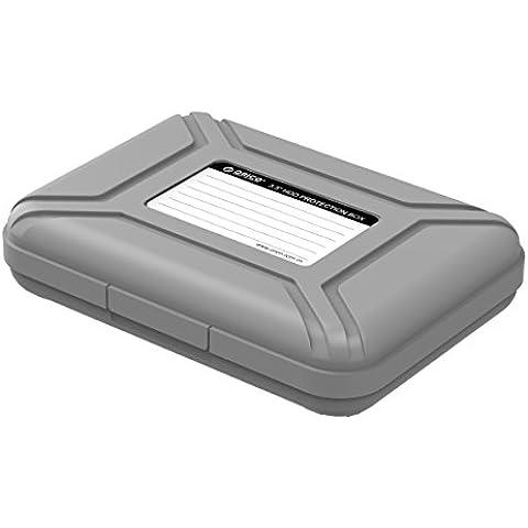 ORICO de 3,5 pulgadas disco duro caso del recinto antiestático caja de protección de disco duro de 8,9 cm de 3,5 pulgadas, disco unidades, a prueba de polvo / a prueba de choques / impermeable (Gris)