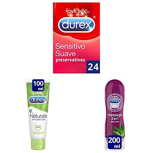 Durex Pack 24 preservativos Sensitivo Suave + 2 Lubricantes