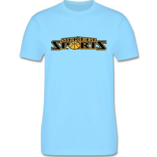 Basketball - Basketball Street Sports - Herren Premium T-Shirt Hellblau