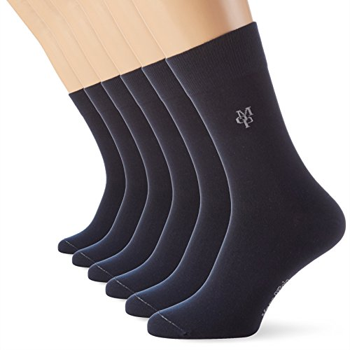 Marc O'Polo Body & Beach Herren Socken , 6er Pack, Gr. 43/46 (Herstellergröße: 406), Blau (navy 815)