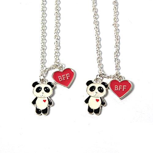 Freundschaftsketten mit Panda-Motiv und BFF-Herz 031-00004