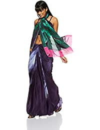 Satya By Satya Paul Crepe Saree with Blouse Piece