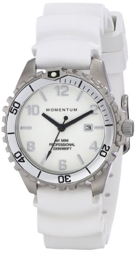 Momentum Womens Quartz Watch, Analogue Classic Display and Rubber Strap 1M-DV07WS1W