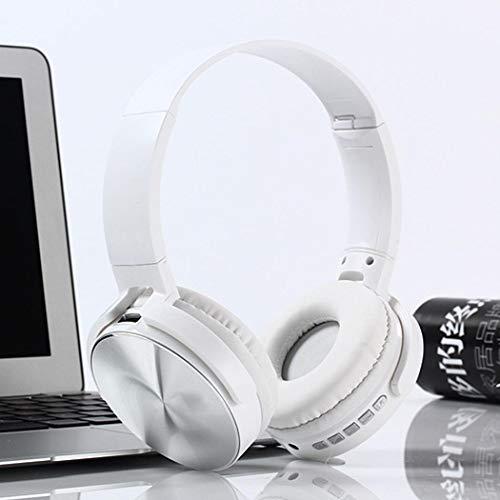 Tomasa Stereo-Headset,Bluetooth Wireless Kopfhörer, Funkkopfhörer Noise Cancelling - Stereo Drahtlose Headset Over Ear mit Mikro Lautstärkeregler für alle Geräte mit Bluetooth (weiß)