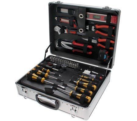 Alu Werkzeugkoffer komplett Werkzeugsatz 129 tlg. Werkzeugset in Alu-Koffer Kraftmann 2204