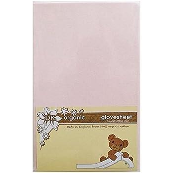 DK Glovesheet - Bio Drap-housse en 100% Coton Organique pour Matelas du Berceau de Chevet (Rose)