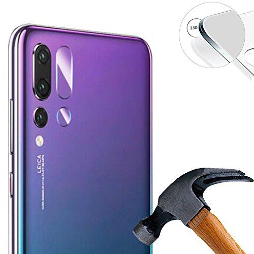 Lusee 2 x Pack Verre Trempé Caméra Arrière Protecteur pour Huawei P20 Pro 6.1 Pouce Protection écran d'objectif Arrière Vitre Ultra Claire Film Protection