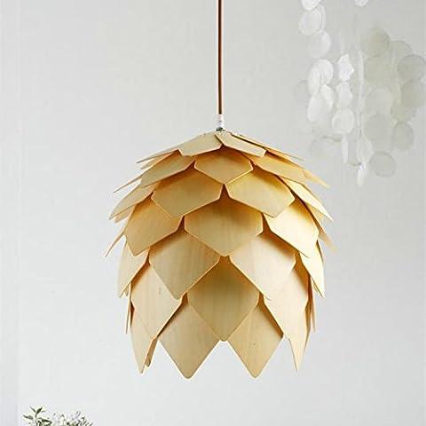 FULL Semplice Creativo lampada a sospensione per la decorazione, casa, bar, ristorante,club, etc in legno Pigna , 25cm, senza