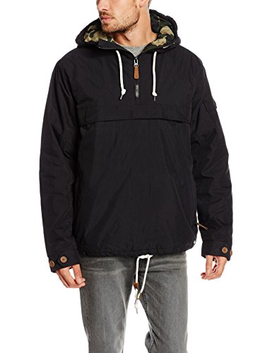 Dickies Milford, Impermeable Uomo, Nero, Large