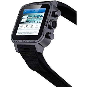 "simvalley MOBILE 1.5""-Smartwatch AW-420.RX mit Android 4.2, BT, WiFi, schwarz"