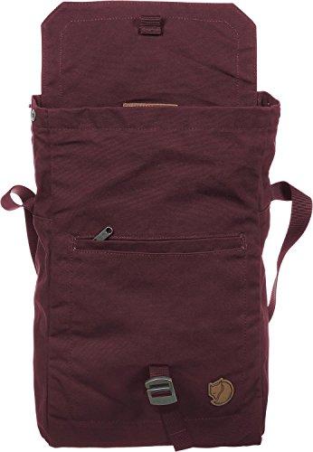 Fjällräven Borsa Sacco Fold no. 3, Unisex, Umhängetasche Foldsack No 3, sabbia, 25 x 7 x 30 cm, 6 Liter rosso scuro