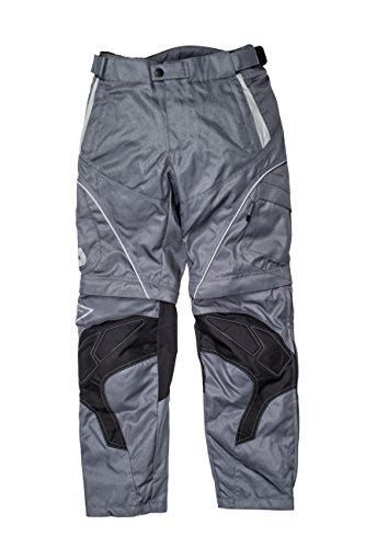 #Racer Zipp-Off Textilhose, Grau, 4XL#