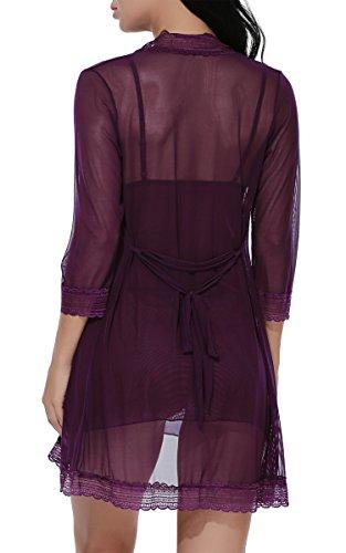 MIOIM®Femme Jupe Robe Dentelle 3 Ensembles Sexy Sous-vêtement Violet