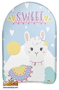 Saica- Llama. Body Board Mini. Tabla para Nadar en Playa y Piscina. Surf, Color Blanco y Azul (103)
