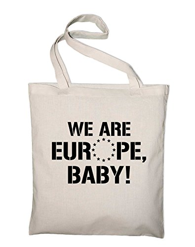 We are Europe, Baby, Brexit UK, EU, European Union Jutebeutel, Beutel, Stoffbeutel, Baumwolltasche, royalblue Natur