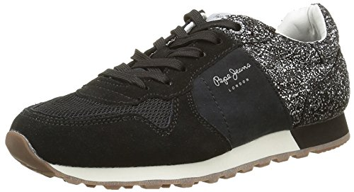Pepe Jeans Verona Break, Baskets Basses Femme Noir (999Black)
