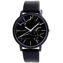 Relojes Unisex,Xinan Relojes Reloj Pulsera Cuero Cuarzo PU Acero Inoxidable (E)